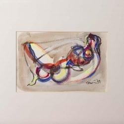 Vrouw liggend lichtgevend been